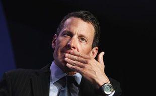 L'ancien cycliste Lance Armstrong lors d'une conférence à New-York, le 22 septembre 2010.