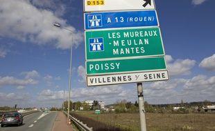 Illustration de l'autoroute A13.