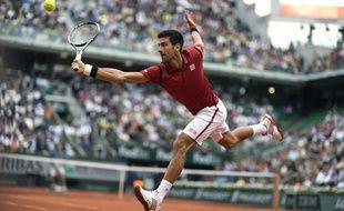 Novak Djokovic à Roland-Garros, le 28 mai 2016.