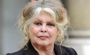 Brigitte Bardot, ancienne actrice et activiste des droits des animaux, au Palais de l'Elysée, le 27 septembre 2007 à Paris