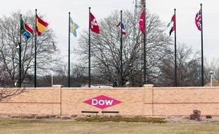 Le 10/12/2015, le siège sociale de Chemical à Midland dans le Michigan.Bill Pugliano/Getty Images/AFP.