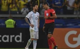 Lionel Messi avait critiqué l'arbitrage après Brésil-Argentine, en demi-finale de la Copa America, le 2 juillet 2019.