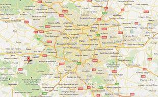 Google Maps de La Verrière (Yvelines)