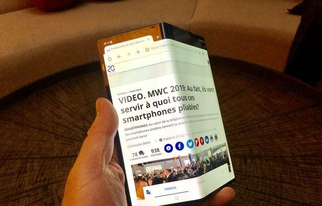 20 Minutes fait la une du futur smartphone pliable Huawei Mate X.
