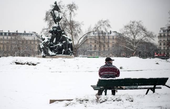Paris sous la neige, le 29 janvier 2019.