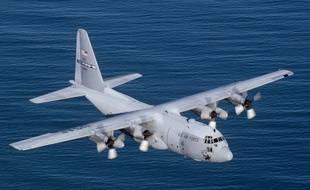 Illustration: un avion de transport militaire C-130 de Lockeed Martin.