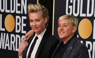 L'actrice Portia de Rossi et son épouse, la présentatrice Ellen DeGeneres