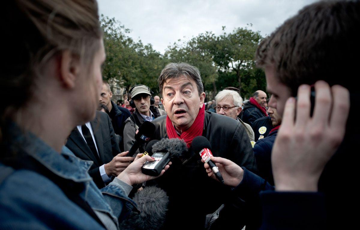 Jean-Luc Mélenchon, le 2 novembre 2014, à Paris. – NICOLAS MESSYASZ/SIPA