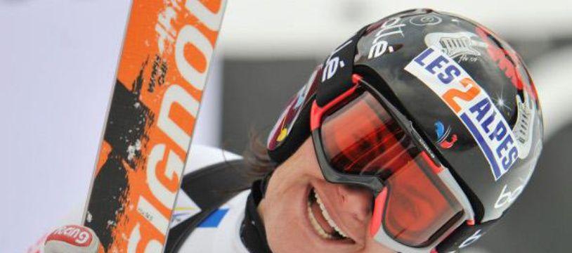 La skieuse Marion Rolland, le 8 janvier 2010 lors d'une course à Haus Im Ennstal.