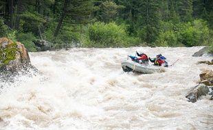 Illustration de rafting. Ben Pierce/Bozeman Daily Chronicle via AP /MTBOZ201/401867615150/JUNE 5, 2012 PHOTO/1504150049