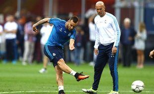 Jesé et Zinédine Zidane.