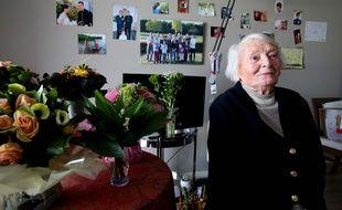 En 2017 la résistante Yvette Lundy. Photo by FRANCOIS NASCIMBENI / AFP.