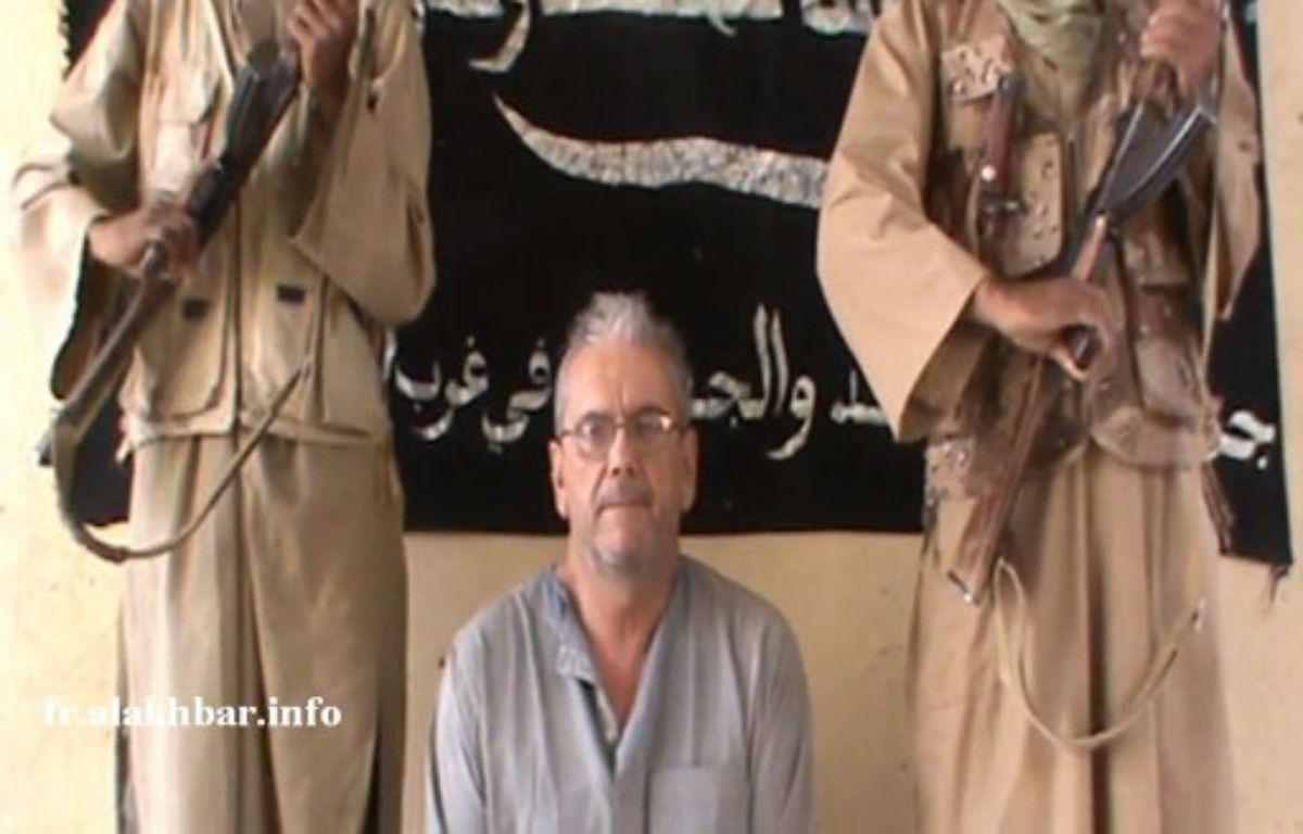 Capture d'écran d'une vidéo montrant l'otage français Gilberto Rodrigues Leal. – AFP PHOTO / ALAKHBAR