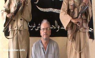 Capture d'écran d'une vidéo montrant l'otage français Gilberto Rodrigues Leal.