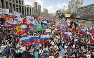 Manifestation à Moscou le 20 juillet 2019.