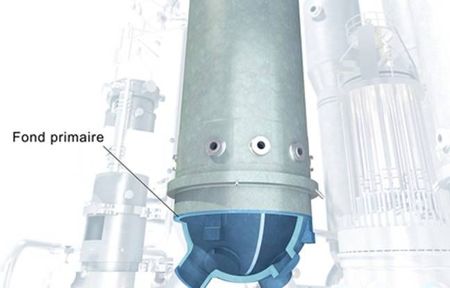 Fond primaire d'un générateur de vapeur en centrale nucléaire