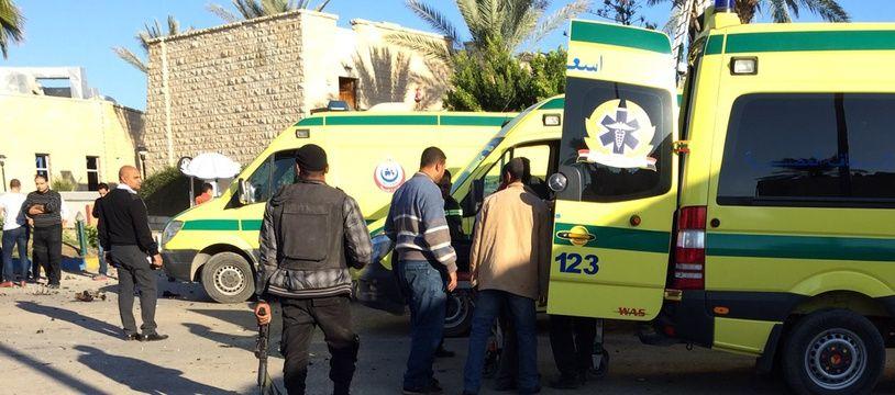 Ces hommes ont été condamnés pour des attaques commises dans la région du Sinaï, comme ici le 24 novembre 2015.