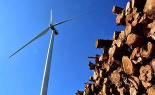 Une éolienne, ici dans la Drôme. (illustration)