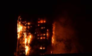 La Grenfell Tower, dans l'ouest de Londres, ravagée par un incendie.