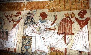 Illustration d'une tombe pharaonique découverte à Louxor en janvier 2014.