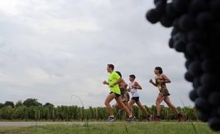 Illustration du marathon du Médoc 2015. AFP PHOTO / NICOLAS TUCAT