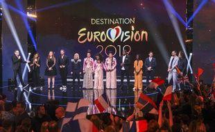 Sur le plateau de «Destination Eurovision» 2019.