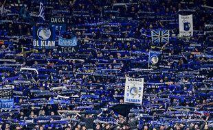 Les supporters de l'Atalanta à San Siro, le 19 février 2020.