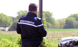 Un gendarme en intervention, ici près de Rennes.