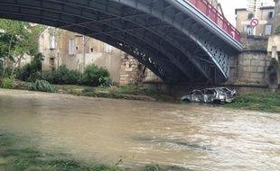 Inondations à Lodève (Hérault).