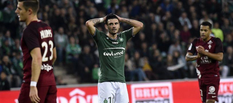 Rémy Cabella, ici lors de la dernière victoire stéphanoise, le 14 octobre contre le FC Metz (3-1).