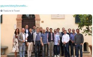 Deux femmes ont été ajoutées, à l'aide de Photoshop, sur la photo de groupe du Sommet de Solomeo (Italie)  pour le rendre moins masculin.