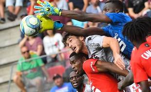 Rennes face à Nice lors de la 4e journée de Ligue 1.