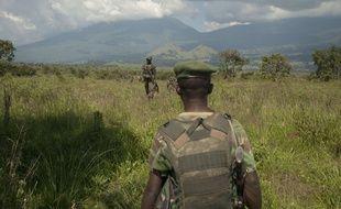 Illustration de soldats des Forces Armées de République démocratique du Congo dans le Kivu.