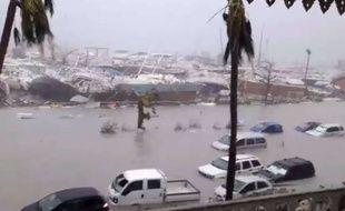 L'île de Saint-Martin après le passage de l'ouragan Irma, le 6 septembre 2017.