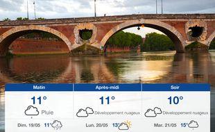 Météo Toulouse: Prévisions du samedi 18 mai 2019
