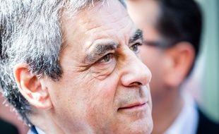 François Fillon, candidat Les Républicains à la présidentielle, le 12 avril 2017 à Aix-les-Bains