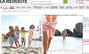Capture d'écran du site Internet de La Redoute, le 4 janvier 2012.
