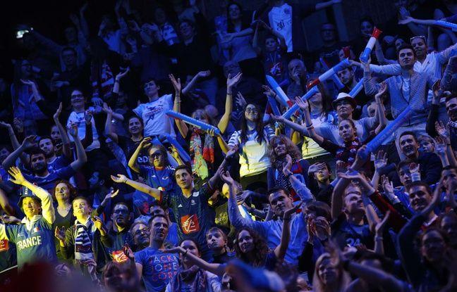 Le public a répondu présent lors du match d'ouverture du Mondial de handball entre la France et le Brésil, le 11 janvier 2017 à l'AccorHôtel Arena de Paris.