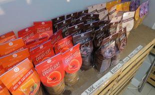 Les biscuits proposés par les Deux Gourmands, dans leur boutique des Yvelines.
