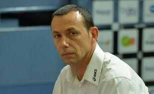 Patrice Canayer, entraîneur du MAHB, le club de handball de Montpellier.