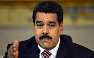 Le président vénézuélien Nicolas Maduro, le 25 octobre 2014 à Caracas