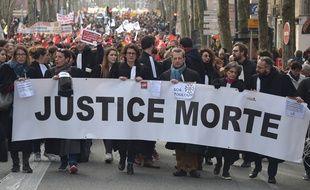 Une manifestation des avocats, le 9 janvier à Toulouse