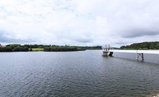 Le barrage de la Chèze à Saint-Thurial, ici photographié en juin 2016.