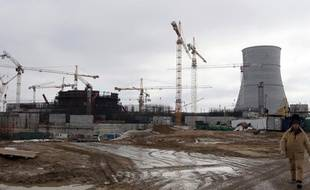 Le site de la centrale nucléaire en construction près de Saint Petersbourg, Leningrad Atomic Power Station - 2, le 5 avril 2011.