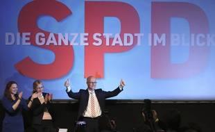 Le premier bourgmestre de Hambourg, Peter Tschentscher (SPD), à l'annonce des résultats le 23 février 2020.