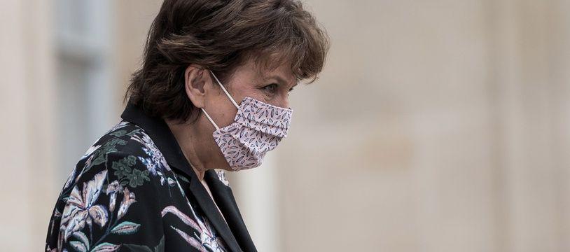 Roselyne Bachelot à la sortie du Conseil des ministres, le 23 Septembre 2020.