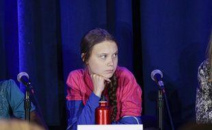 Greta Thunberg au sommet de l'ONU.
