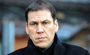 L'entraîneur lillois Rudi Garcia, le 7 avril 2012, à Brest.