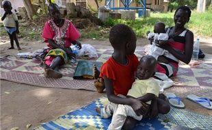 Des femmes et leurs enfants à Juba, au Soudan du Sud, le 14 octobre 2014.