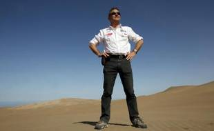 Etienne Lavigne, le patron du Dakar, lors de la 7e étape du Dakar, le 9 janvier 2011 à Antofagasta (Chili)